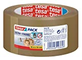 tesapack Ultra Strong - PVC-Klebebänder für festes Verpacken und sicheres Bündeln - Braun - 66 m x 50 mm